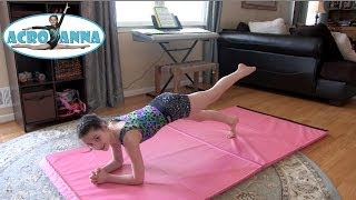 getlinkyoutube.com-Conditioning Exercises and Tips with Annie the Gymnast | Acroanna