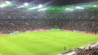 Borussia M´gladbach - FC Barcelona 1-2 Stimmung nach dem Tor 28.09.2016