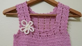 getlinkyoutube.com-Vestido para niña Crochet parte 2 de 3