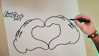 getlinkyoutube.com-COMO DIBUJAR UN CORAZON (MICKEY MOUSE) / HOW TO DRAW A HEART (MICKEY MOUSE)