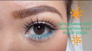 spring/summer 2013 makeup tutorial 2.0 - pop of color