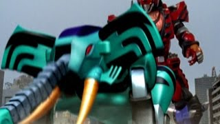 getlinkyoutube.com-Power Rangers Jungle Fury - Elephant Beast Zord First Scene (Way of the Master Episode)