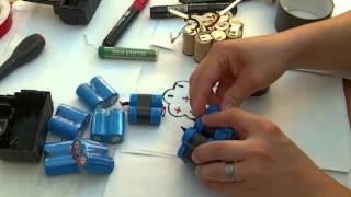 getlinkyoutube.com-Cordless drill battery pack DIY upgrade / rebuild - sealed, no screws