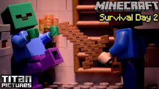 getlinkyoutube.com-Lego Minecraft Survival 2