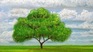 getlinkyoutube.com-How to draw a tree at distance with pastels