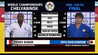 getlinkyoutube.com-Teddy RINER vs Ryu SHICHINOHE Final Judo World Championship 2015