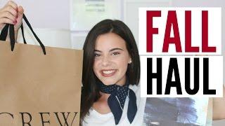 HUGE FALL HAUL! J.Crew, Anthropologie, Nordstrom! | emilyOandbows