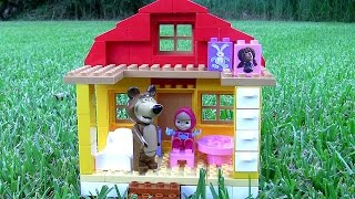 getlinkyoutube.com-House of Masha and the Bear Mega Blocks - Casa di Masha e Orso - Маша и Медведь - Masha i Medved