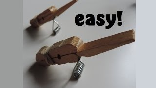 getlinkyoutube.com-How to Make A Clothespin Toothpick Gun. (Full HD)