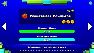 "getlinkyoutube.com-Geometry Dash - ""Geometrical Dominator"" 100% Complete [All Coins] - GuitarHeroStyles"