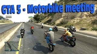 getlinkyoutube.com-GTA Online - Motorbike Meet 1 !