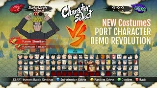 getlinkyoutube.com-Naruto STORM III™+D40 New Costumes Pack MOD Characters Included DEMO Revolution!