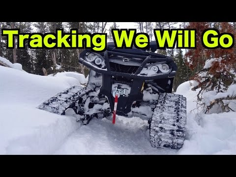 Can Am Outlander & Yamaha Grizzly - Snowy All Terrain Vehicle Ride On Commander Tracks - Feb 28/15