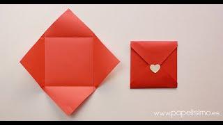 getlinkyoutube.com-Cómo hacer sobres de papel originales