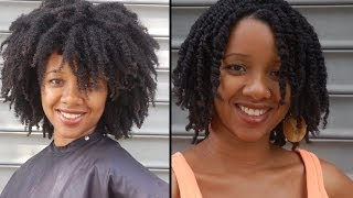 getlinkyoutube.com-How to make Twists in 4C Hair and all other natural hair types