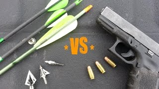 getlinkyoutube.com-Modern Combat Archery : Arrows vs Bullets PRESSURE TEST!