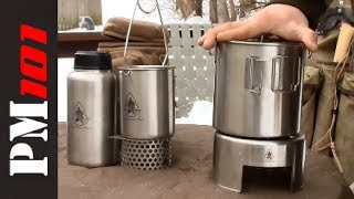 getlinkyoutube.com-Pathfinder Stainless Steel Canteen, Bottle Kit, Bush Pot   - Preparedmind101