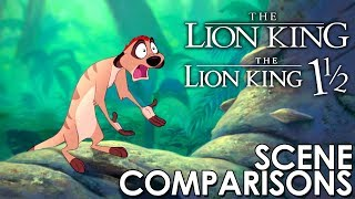 The Lion King and The Lion King 1½ - scenes comparisons