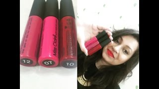 getlinkyoutube.com-Miss Claire Soft Matte Lip Cream || lip swatches + review shade 07 10 12