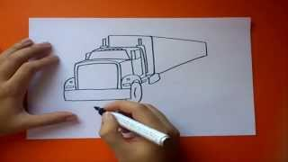 getlinkyoutube.com-Como dibujar un camión paso a paso | How to draw a truck