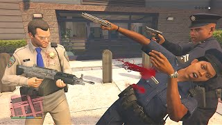 Sly Shooter - GTA 5 Trevor And Michael's Vespucci Beach Police Station Assault/Five Star Escape