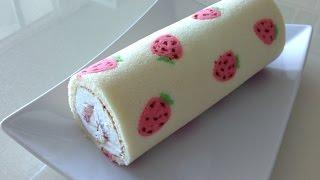 getlinkyoutube.com-딸기 롤케이크 (strawberry roll)
