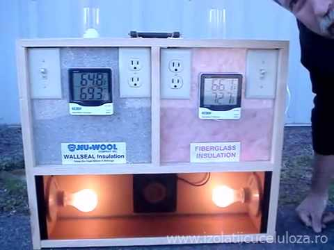 Test termic celuloza-vata minerala