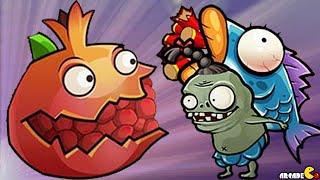 getlinkyoutube.com-Plants Vs Zombies - New Plants Pomegranate Launcher Vs Spider Woman! PVZ China