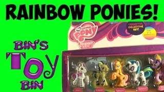 my little pony rainbow pony favorites set review! rainbowfied dr hooves, dj pon-3! by bin's toy bin