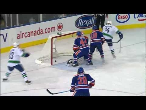 Canucks at Oilers - Alex Burrows 3-3 Goal - 10.15.11 - HD