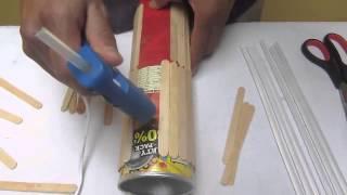 getlinkyoutube.com-Como hacer un florero con palitos de helado o paleta