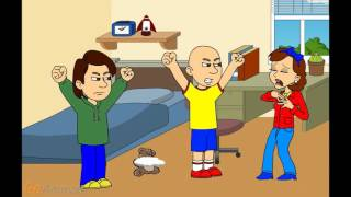 getlinkyoutube.com-Caillou's Mom Destroy Caillou's Teddy Bear And Gets Grounded/Caillou Gets Ungrounded