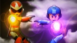 getlinkyoutube.com-Rockman and Transformers Stop motion : Go! Rockman! 衝吧!! 洛克人 !!!