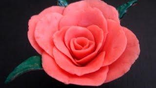 getlinkyoutube.com-How To Make a Rose Flower With Soap