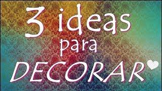 getlinkyoutube.com-3 IDEAS PARA DECORAR ¡RECICLA Y AHORRA! (DIY) ~ Fany Modling