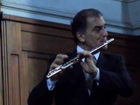 Giovanni Battista Pergolesi Concerto in G major, Claudio Barile, flute -  Central Methodist Church