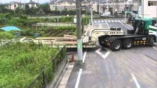 getlinkyoutube.com-16輪ステアリングトレーラーの検証 株式会社江北重機運輸