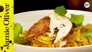 getlinkyoutube.com-Mediterranean Roast Chicken Pasta | Jamie Oliver