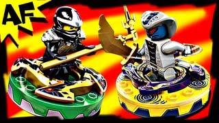 getlinkyoutube.com-COLE vs RATTLA Lego Ninjago Spinner Battle & Starter Set Stop Motion Review 9579