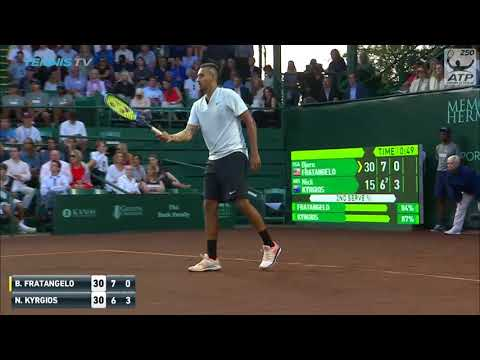 Casual Nick Kyrgios no-look