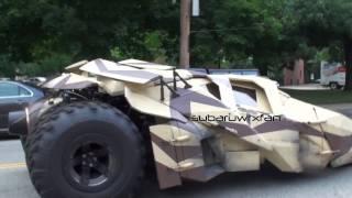 getlinkyoutube.com-3 Tumblers (Batmobile) DRIVING On The Streets!!!