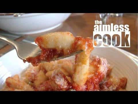 Home Made Gnocchi with Rib Sauce Recipe - Delicious Italian Cooking