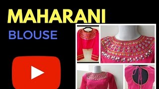 getlinkyoutube.com-MAHARANI BLOUSE ( HIGH NECK) - EASY CUTTING, SEWING AND DESIGNING - DESIGN IT YOURSELF