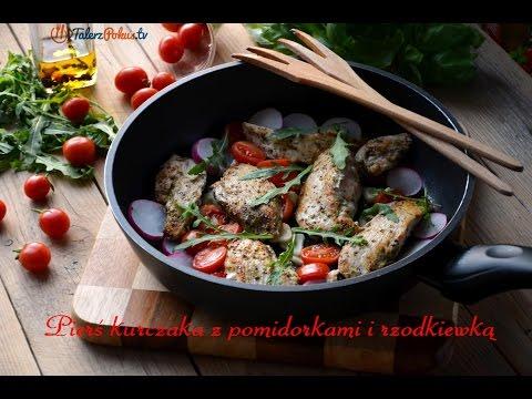 Pierś kurczaka z pomidorkami i rzodkiewką