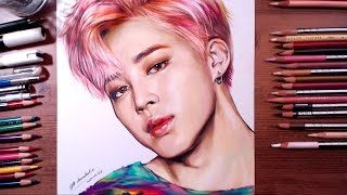getlinkyoutube.com-BTS : Jimin - colored pencil drawing | drawholic