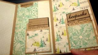 "getlinkyoutube.com-""Playful Pocket Wallet Flip Mini"" - scrapbooking mini album"