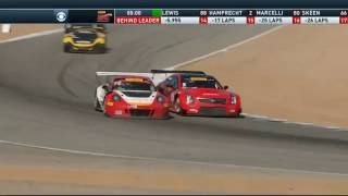 getlinkyoutube.com-Pirelli World Challenge (GT/GTA/GT Cup) 2016. Mazda Raceway Laguna Seca. Battle for Win