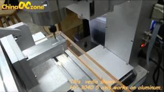 getlinkyoutube.com-China 5 Axis CNC HY-3040 for Aluminum Machining Video