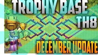 getlinkyoutube.com-The Death Path: Trophy Base Th 8 December Update!/ + Defense Replay!