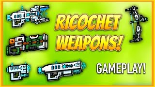 getlinkyoutube.com-Pixel Gun 3D - Ricochet Weapon Gameplay!